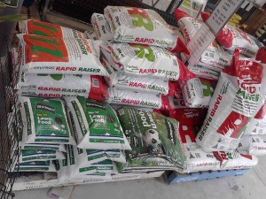 There's an extensive choice of bagged garden products too including fertiliser.